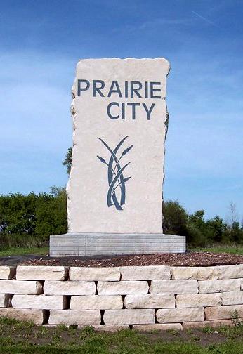 Prairie City Town Sign