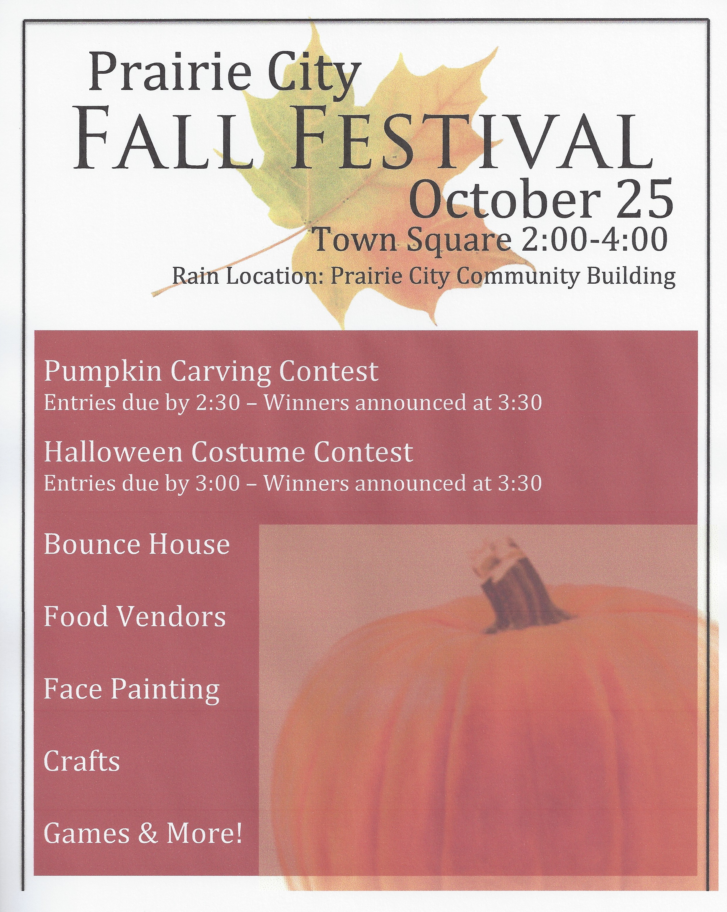 Prairie City Fall Festival