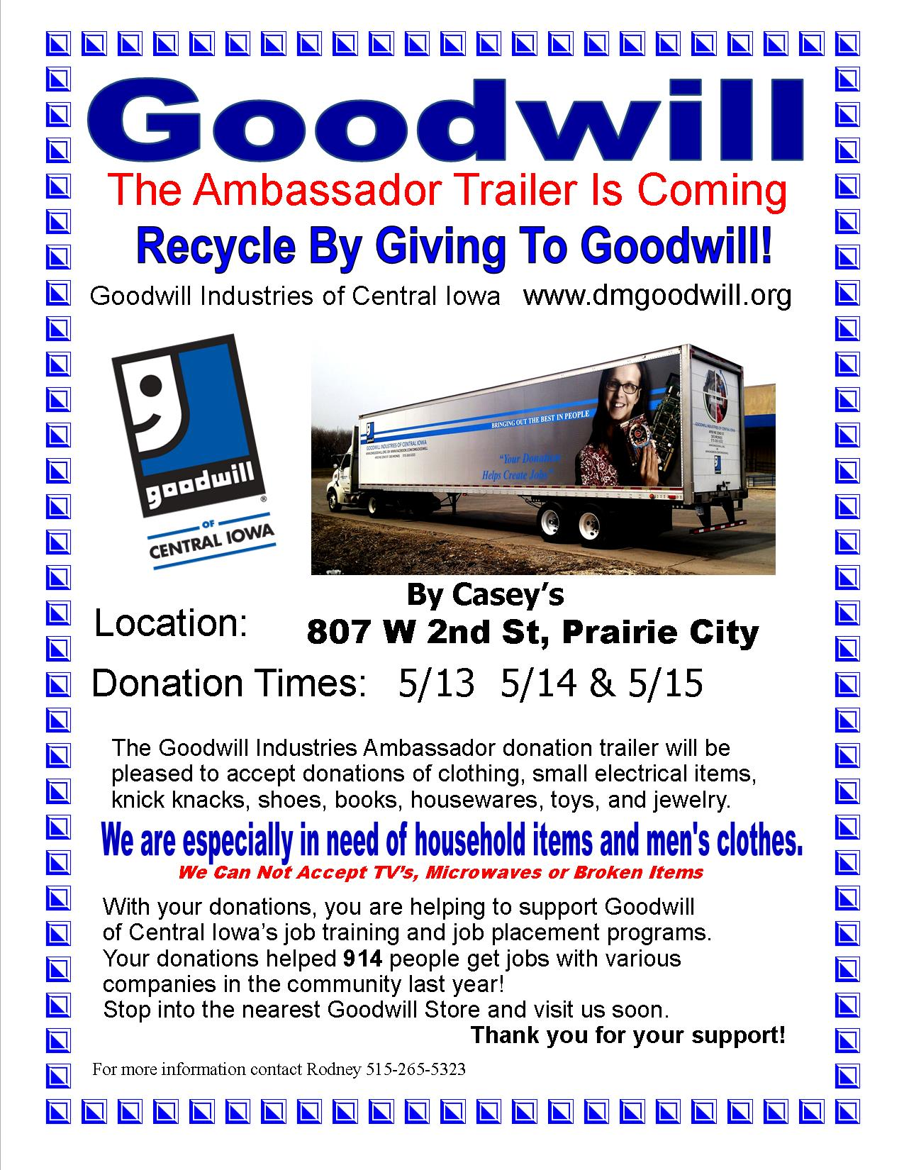 Goodwill Trailer in Prairie City