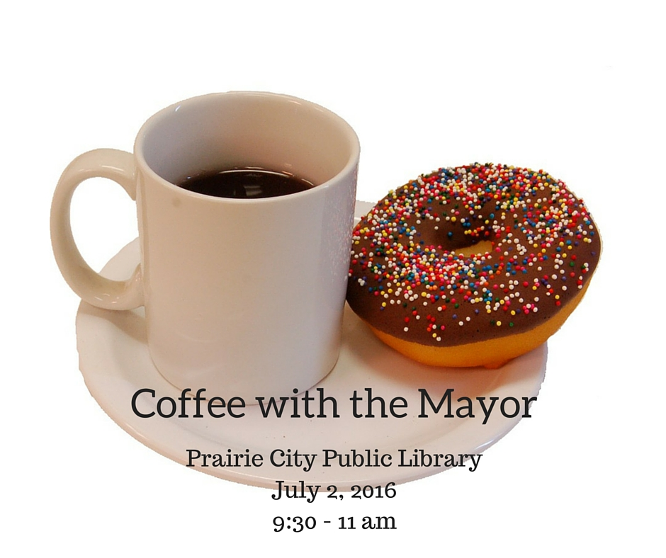 Coffee with the Mayor @ Prairie City Public Library | Prairie City | Iowa | United States