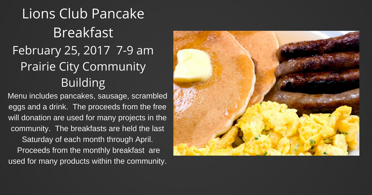 Lion's Pancake Breakfast @ Prairie City Community Building