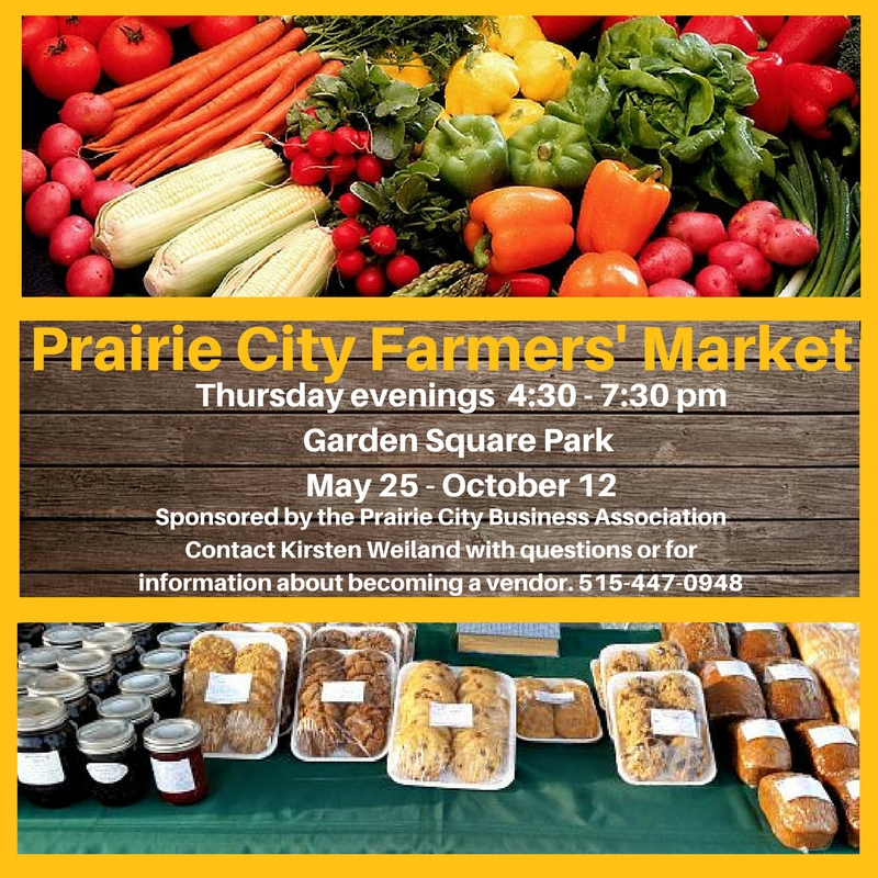 Farmers' Market @ Garden Square Park | Prairie City | Iowa | United States