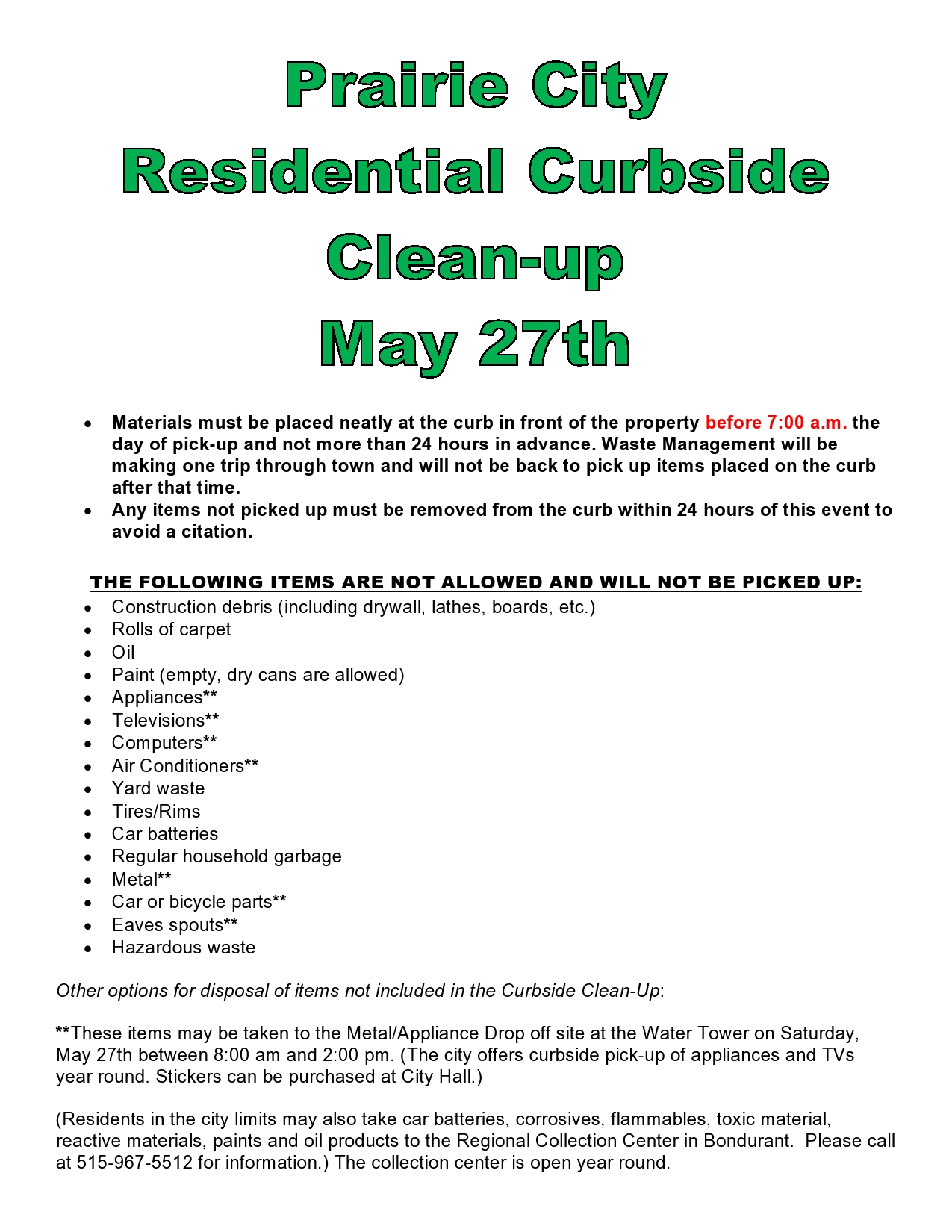 Curbside Clean-up