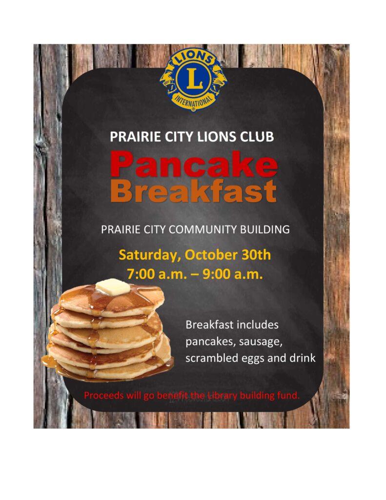 Lions Club Pancake Breakfast @ Community Building